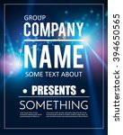 poster template with shining... | Shutterstock .eps vector #394650565