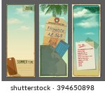 set of vintage vertical banners ... | Shutterstock .eps vector #394650898