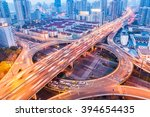 city interchange closeup at... | Shutterstock . vector #394654435