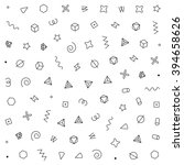 geometric vector pattern.... | Shutterstock .eps vector #394658626