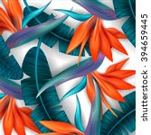 Strelitzia Pattern. Tropical...
