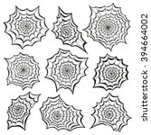 spider's web icon set.... | Shutterstock .eps vector #394664002