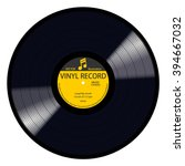 new gramophone yellow label... | Shutterstock .eps vector #394667032