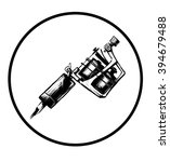 tattoo machine. illustration on ... | Shutterstock . vector #394679488