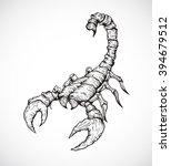scorpion on white background.... | Shutterstock .eps vector #394679512