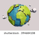 raster version of vector low... | Shutterstock . vector #394684108