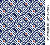 geometric seamless  pattern ... | Shutterstock .eps vector #394689598