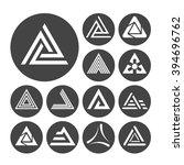 delta letter icons set  13... | Shutterstock . vector #394696762