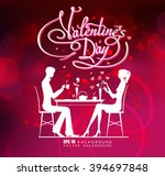 happy valentine day couple... | Shutterstock .eps vector #394697848