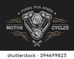 motorcycle engine in vintage...