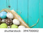 easter card. painted easter... | Shutterstock . vector #394700002