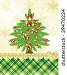 christmas   new year's greeting ... | Shutterstock .eps vector #39470224