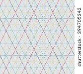 japanese sashiko motif. weaving.... | Shutterstock .eps vector #394705342