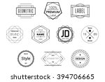 geometric badges black vector... | Shutterstock .eps vector #394706665
