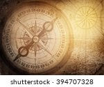pirate and nautical theme... | Shutterstock . vector #394707328