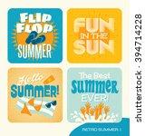 summer retro design elements... | Shutterstock .eps vector #394714228