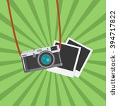 retro photo camera icon. flat... | Shutterstock .eps vector #394717822
