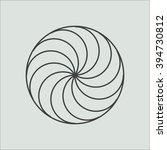 line geometric shape. minimal