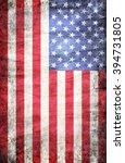 grunge usa flag | Shutterstock . vector #394731805