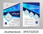 vector flyer template design.... | Shutterstock .eps vector #394732525