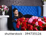 beautiful brunette woman   Shutterstock . vector #394735126