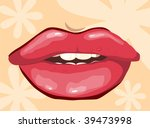 illustration of lips with teeth ... | Shutterstock .eps vector #39473998