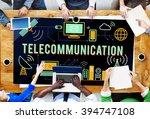telecommunication connection... | Shutterstock . vector #394747108
