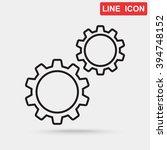 line icon   gears | Shutterstock .eps vector #394748152