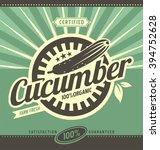 cucumber retro ad concept.... | Shutterstock .eps vector #394752628
