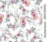 watercolor seamless pattern... | Shutterstock . vector #394759492