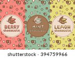set of chocolate seamless  for...   Shutterstock .eps vector #394759966