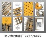 template. set of creative... | Shutterstock .eps vector #394776892