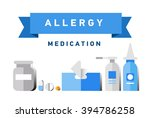 allergy banner set with... | Shutterstock .eps vector #394786258