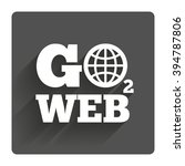 go to web icon. globe sign....