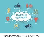 start up company   chart with... | Shutterstock .eps vector #394792192