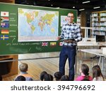 classroom learning geographhy... | Shutterstock . vector #394796692