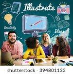 illustrate design graphic art... | Shutterstock . vector #394801132