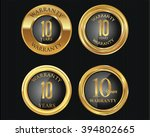 10 years warranty golden labels ... | Shutterstock .eps vector #394802665