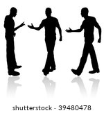 a man greeting semeone isolated ... | Shutterstock . vector #39480478