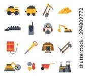 vector illustration with mining ... | Shutterstock .eps vector #394809772