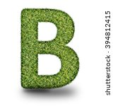 b uppercase alphabet made of...