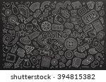 chalkboard vector hand drawn... | Shutterstock .eps vector #394815382