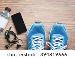 flat lay shot of sport... | Shutterstock . vector #394819666
