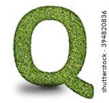 q uppercase alphabet made of...