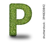 p uppercase alphabet made of...