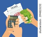 tax document design | Shutterstock .eps vector #394823152