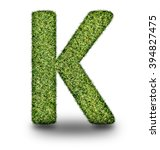 k uppercase alphabet made of...