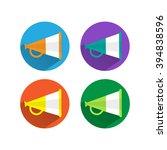 megaphone flat icon style