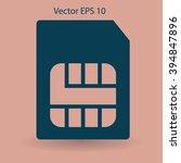 sim card mobile operator vector ...   Shutterstock .eps vector #394847896