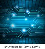 dark blue wave light abstract... | Shutterstock . vector #394852948